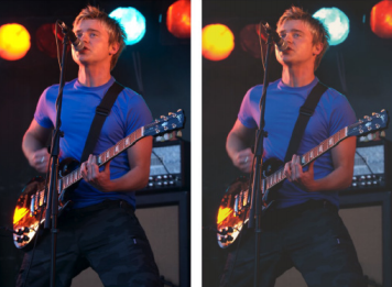 Figure 10: The image of the left shows the ideal colour. The image on the right emulates the best tone and colour that can be achieved on a fine-art rag paper.