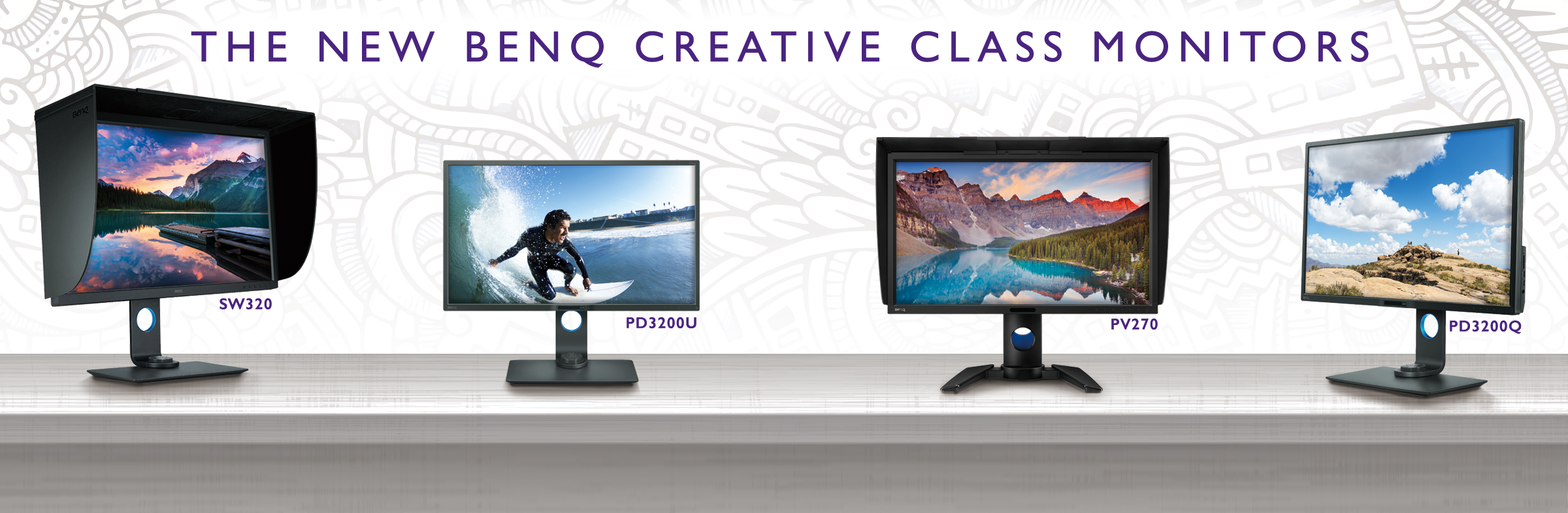 BenQ New Creative Class Monitors